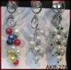 beaded bag charms and keychain