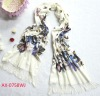 fashion design shawl scarf printed butterfly animal