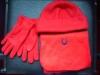 polar fleece scarf,hat & glove sets