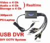 USB 4CH Chanel Real time CCTV DVR Video Capture Card Audio 120fps HD D1 PTZ Security IP CAMERA Partner for Win7