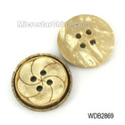 Natural design coconut shell carved flower 4 holes button cheap price