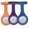 fashion silicone nurse watch with pin backside