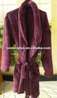 220/240/260GSM 100%polyester Microfiber 150D/288F coral fleece bathrobe/nightrobe/Gown with belt