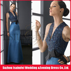 2012 Fashion Design ! Floor-Length Sheath Lovely Straps Satin Beads Strapless Party Dresses For Women !