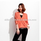 v-neck modern blouse for lady