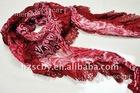 lady lace fashion long chiffon triangle scarf