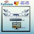 4CH 720P NVR+4PCS H.264 720P 1.3 Megapixel Economical HD Bullet ip camera dvr kit with IR-CUT