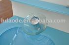 Clear glass basin