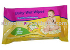 Baby cleaning wipes with vitamin E