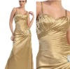 Glamorous Spaghetti Straps Satin Long Mother of Bride Evening Dress