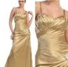 Glamorous Spaghetti Straps Satin Long Mother of Bride Evening Dress