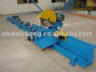 Saw machine with chip collector for adiabatic profiles