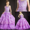 GD1217 Amazing 2013 Style Cute Custom-Made Ball-Gown Spaghetti Strap Sweetheart Heavy Beaded Sequins Fashion Girls Party Dresses