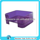 colored luxury acrylic pet bed /comfortable perspex pet cat bed
