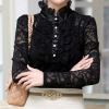 Beautiful ladies' lace shirt full of ruffles and frills ladies shirt