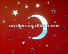 adhesive plastic mirror,moon and star wall decor