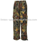 Man camouflage fleece pants