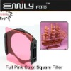 Full Pink Color Square Filter