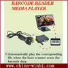 metal shell barcode reader retail store digital media player