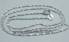 16 Inch Long Sterling Silver Necklace