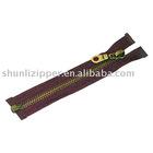 8# (Open-ond Fancy Slider) Antique Brass Zipper