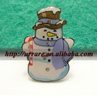 Christmas Snowman LED Brooch