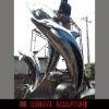 animal sculpture,Dolphin sculpture,garden animal