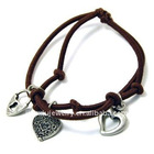 Heart shaped charm bracelet