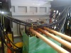 Three flow brass horizontal continuous casting unit