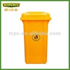 240L plastic dustbin with EN840 Certification