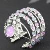 fashion elegant seed bead multistrand silver plated arc-shape quartz watch bangles&bracelets