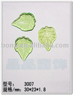 leaf shaped acrylic transparent beads/PMMA leaf beads/Plastic leaf beads