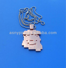 3D cooper plating long chain necklace