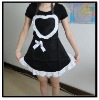 Black Dress Aprons with Heart Shape Lace