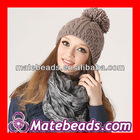 Wholesale Fashion Chunky Warm Winter Women's Knitted Hat