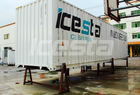 ICESTA Concrete Containerized flake ice plant 60 tons