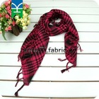 red& black tartan cotton scarf