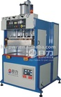 High frequency welding machine for welding sun visor/door panels
