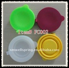 New silicone foldable cup with cover