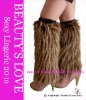 Furry Leg Warmer with top band