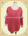 Supplier sweater pullover long sleeve acrylic & mohair