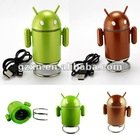 Wholesale 50pcs/lot Android Speaker Android Robot Speaker Mini Robot Android Portable Speaker