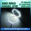 21 leds 70mm diameter 3528 SMD ring angel eye for cars