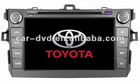 Toyota new corolla 2-din Car DVD player with gps navigation tracking system