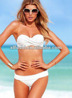 2012 Stock Designer Ladies Push-up Bandeau Top Swimwear Swimsuit