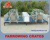 Janapese limit style galvanized pipe sow farrowing crates