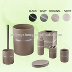 Round Shape Polyresin 7 pcs Bathroom Set