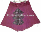 red summer beaded skirt