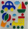 Window Jelly Gel Sticker with Car,Train,Boat pattern for kids (G-0500)