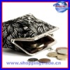 Full printing metal lock cotton coin purse for promotion